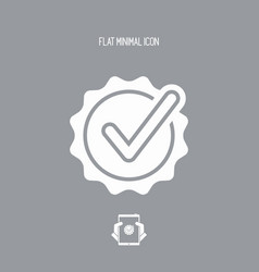 Checking quality symbol icon vector