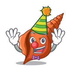 clown long shell mascot cartoon vector image
