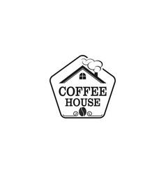 Coffee house logo design badge logo cafe vector