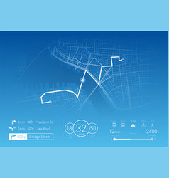 custom navigation system vector image