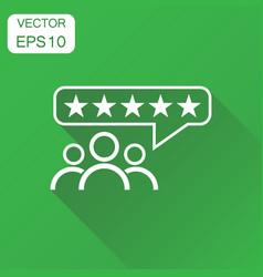 Customer reviews rating user feedback icon vector