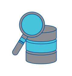 Database search data center icon image vector