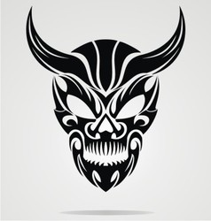 Demon Head Tribal vector image