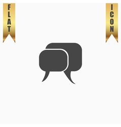 Dialogue quote icon vector
