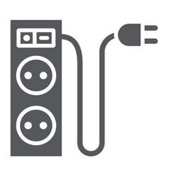 Electric extension glyph icon energy and plug vector
