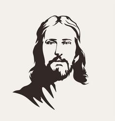 Face jesus christ vector