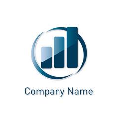 financial concept logo vector image