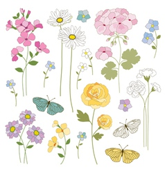 Floral mix vector