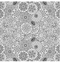 floral ornamental decorative pattern vector image