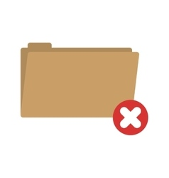 Folder symbol to erased files vector