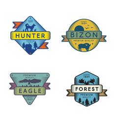 Forest animals logo templates set vector