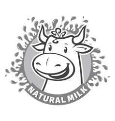 Fresh natural milk emblem vector