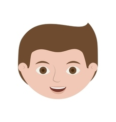 front face guy smiling with hairstyle vector image