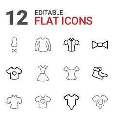 garment icons vector image