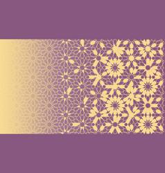 Geometric rich arabic texture with arabesque grid vector