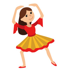 Girl dancing vector