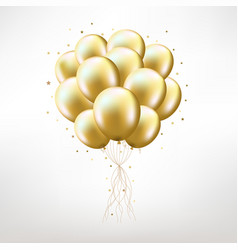 Golden balloons vector