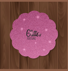 Greeting card with pink glitter background vector