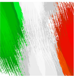 grunge background in colors of italian flag vector image