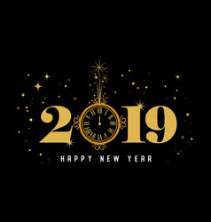 happy new year 2019 - new year shining background vector image