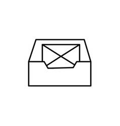 Inbox mail icon vector
