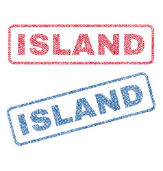 Island textile stamps vector