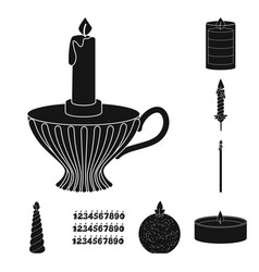 isolated object of candlelight and decoration icon vector image