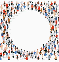 Large group people in circle shape vector