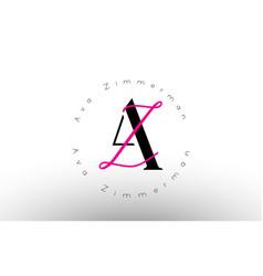 Letter az signature minimalistic monogram logo vector