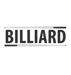 Logo for billiard school club or shop vector