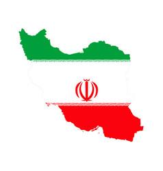 map iran and iranian flag vector image