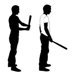 men with bats vector image
