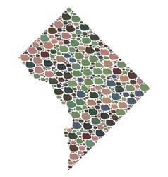 Mosaic map of washington dc of stones vector