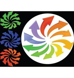 Multicolour palette vector
