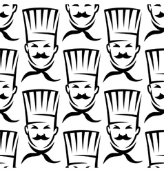 Mustached chefs in professional uniform seamless vector