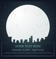 Night city event background vector