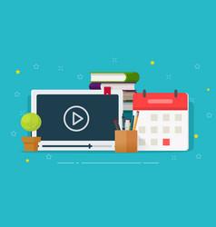 online courses or webinar training vector image