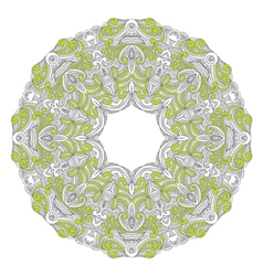 Ornamental round lace patternarabesque designs vector image