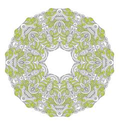 Ornamental round lace patternarabesque designs vector