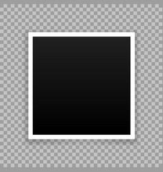 photo frame mockup design white border vector image