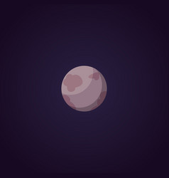 Planet pluto cartoon isolated vector