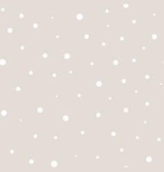 Polka dot seamless pattern in pastel colors white vector