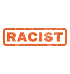 Racist Rubber Stamp vector image