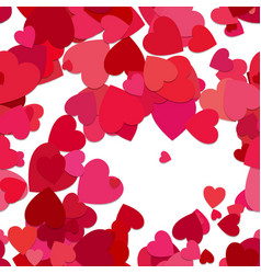 red seamless heart background pattern vector image