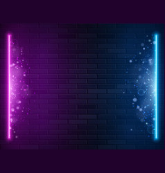 Retro abstract blue and purple neon lights vector