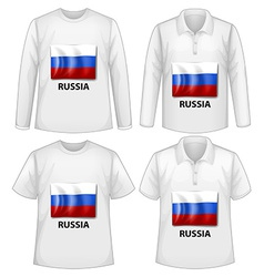 Russia shirt vector image