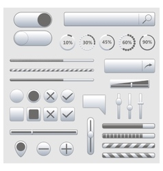 Set of web elements vector image
