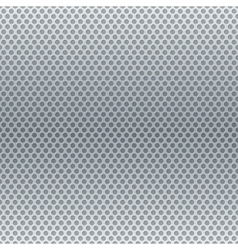 Silver metallic round grid background vector image