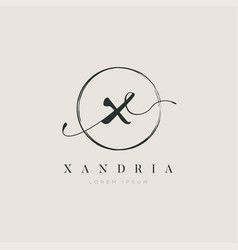 Simple elegant initial letter type x logo sign vector