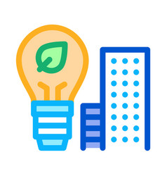 smart city buildings icon outline vector image